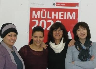 v.l.n.r.: Medine Öztürk, Stephanie Macht, Touran Malaie, Alla Petrotchenko